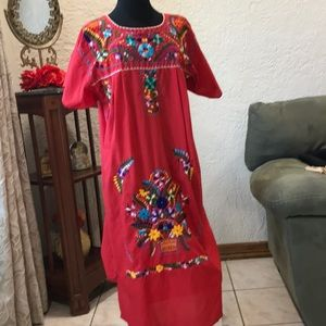 Mexican artesanal dress size XL